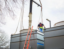 Reparo industrial Inspect_2 da unidade de condicionamento de ar Foto de Stock Royalty Free