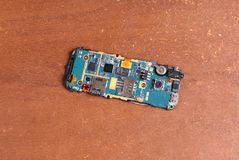 Reparo quebrado desmontado do telefone celular Fotografia de Stock