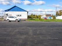 Reparos da estrada na região de Kaluga em Rússia imagem de stock royalty free