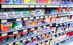 Reparto del dolce del supermercato Fotografie Stock