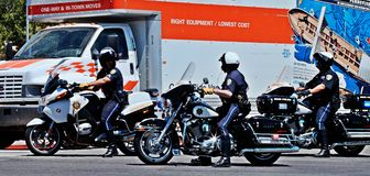 Reparto della polizia di Reno Fotografie Stock Libere da Diritti