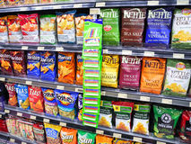 Reparto dello spuntino del supermercato Fotografia Stock Libera da Diritti