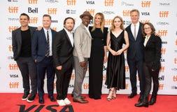 Reparto y equipo en la premier de Ben Is Back en el festival de cine del international de Toronto imagen de archivo libre de regalías