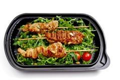 Repas à aller, aliments de préparation rapide Photographie stock libre de droits