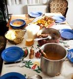 Repas à la maison image libre de droits