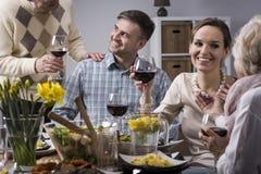 Repas élégant avec la famille Image stock
