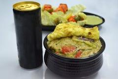 Repas afghani de nourriture de poulet Images stock