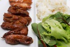 Repas asiatique de poulet de teriyaki images libres de droits