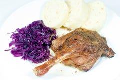 Repas avec de la viande de canard Photos stock