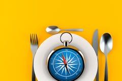 Repas avec la boussole illustration libre de droits