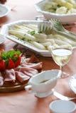 Repas blanc d'asperge Photographie stock libre de droits
