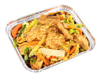 Repas chinois de Chow Mein Take Away de poulet photos libres de droits