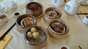 Repas chinois de dim sum Photographie stock libre de droits