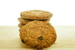 Repas d'avoine de biscuits avec la fraise. Image libre de droits