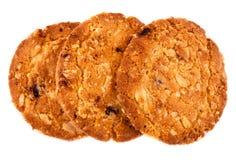 Repas d'avoine de biscuits avec la fraise. Photos libres de droits