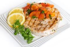 Repas de bifteck de Marlin Photo stock