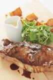 Repas de côtelette d'agneau de Barnsley Photographie stock