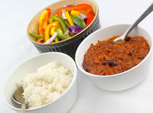 Repas de chili con carne Photo libre de droits