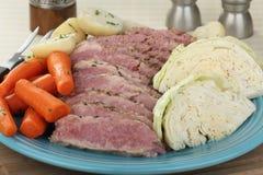 Repas de corned beef et de chou photos libres de droits