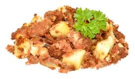 Repas de gâchis de corned beef photo stock