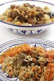 Repas de kabsa de boeuf avec de la sauce Photo stock