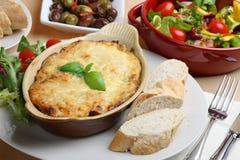 Repas de lasagne Images libres de droits