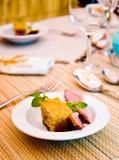 Repas de luxe Photo libre de droits