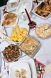 Repas de Noël photos stock