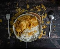 Repas de pomme de terre d'Ebi photographie stock libre de droits