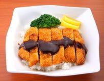 Repas de porc du Japon Photo libre de droits