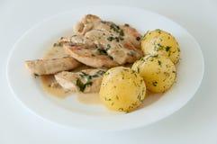 Repas de poulet photographie stock libre de droits