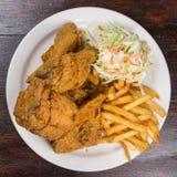 Repas de poulet frit photographie stock