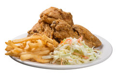 Repas de poulet frit images stock