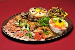 Repas de restaurant Photographie stock libre de droits