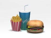 Repas de restaurant d'aliments de préparation rapide Photographie stock libre de droits