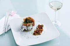 Repas de restaurant de fruits de mer Photos stock