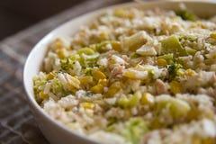 Repas de riz dans une cuvette Photos stock