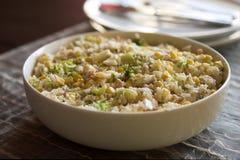 Repas de riz dans une cuvette Photo libre de droits