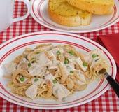 Repas de Tetrazzini de poulet photographie stock
