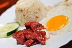 Repas doux de déjeuner de porc Photos libres de droits
