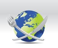 Repas du monde Photos libres de droits