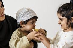 Repas du Moyen-Orient de Suhoor ou d'Iftar images stock
