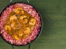 Repas du Roi Prawn Masala Curry images stock