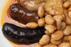 Repas espagnol typique de Fabada Images libres de droits