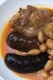 Repas espagnol typique de Fabada Photo stock