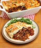 Repas fait maison de moussaka Photos stock
