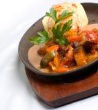 Repas grillé de poulet Photos stock