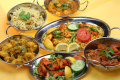 Repas indien de cari Photo stock