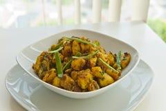 Repas indien des pommes de terre Images libres de droits