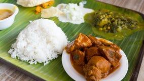 Repas indien typique Photos stock